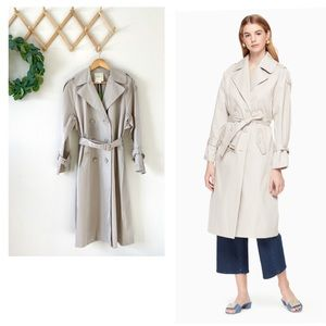 NWT Kate Spade Double Breasted Trench Coat Small